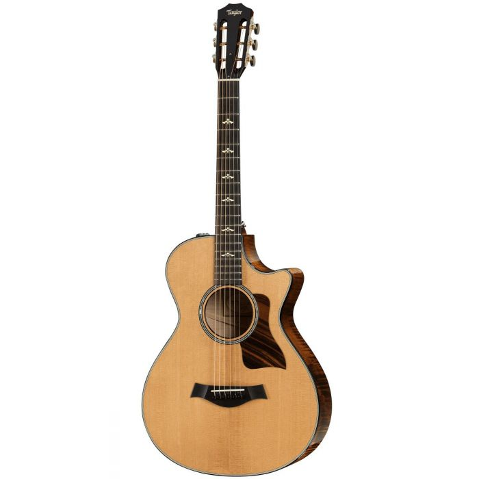 Full frontal view of a Taylor 612ce 12-Fret Grand Concert V-Class Electro Acoustic Guitar