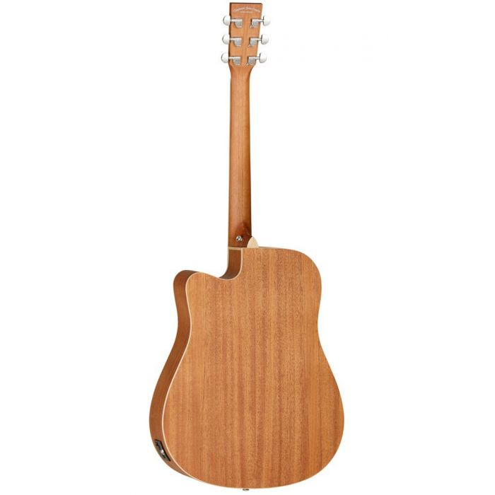 Full rear image of a Tanglewood TWUDCE Electro Acoustic Guitar