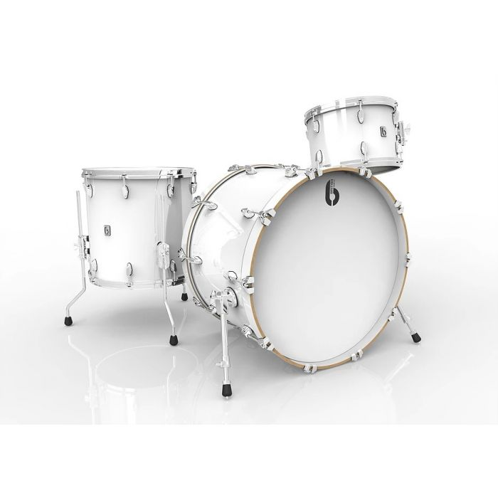 "British Drum Co Legend Legend Series 22"" 3-Piece Shell Pack Piccadilly White"