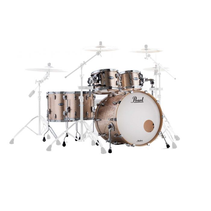 Pearl Masters Complete Maple 5-Piece Shell Pack in Champagne Sparkle