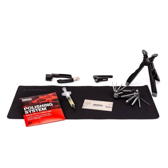 Another contents view of the DAddario Guitar and Bass Maintenance Kit