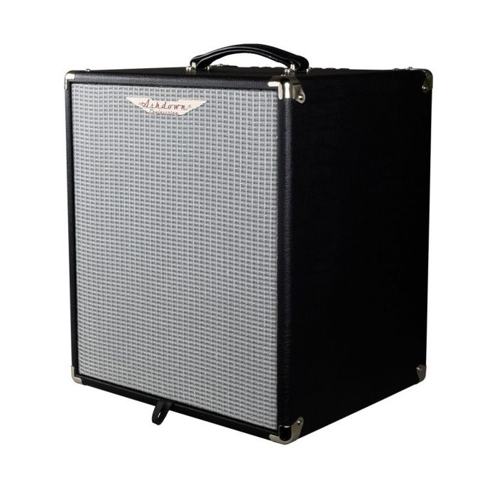 Front right angled view of a Ashdown STUDIO-12 Super lightweight 110w Bass Combo Amp