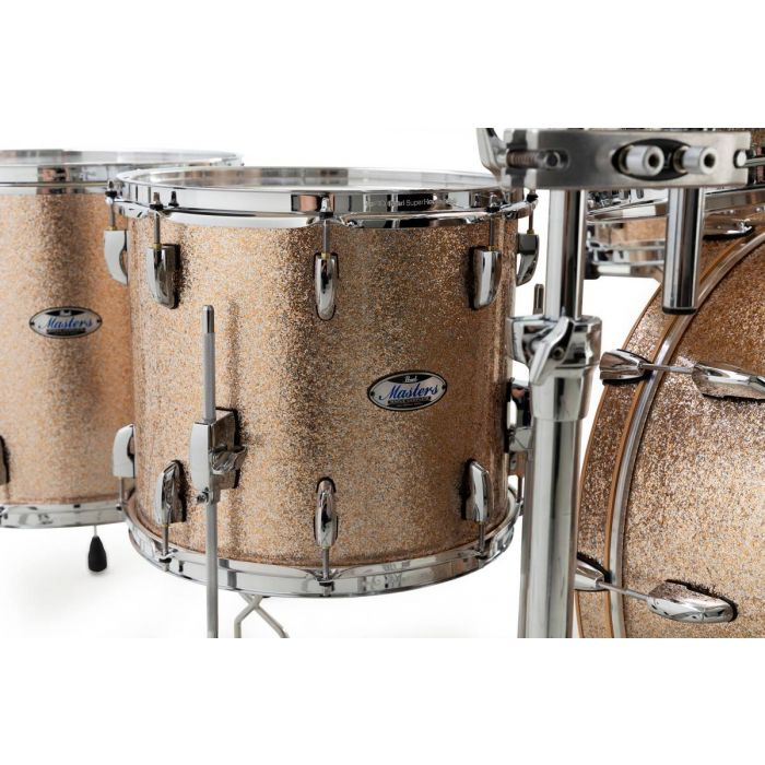 Pearl Masters Maple Complete Floor Toms in Champagne Sparkle