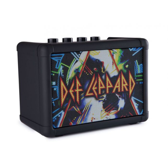 Front right angled view of a Blackstar Limited Edition Def Leppard Fly 3 Amp