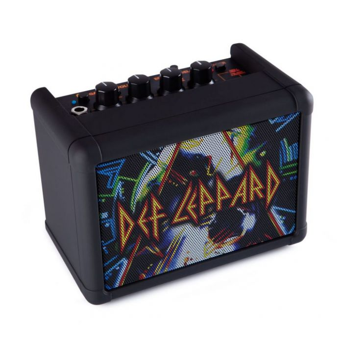 Left angled above shot of a Blackstar Limited Edition Def Leppard Fly 3 Amp