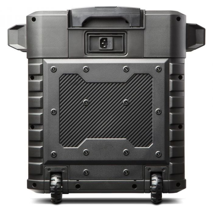Full rear view of a Alto Uber FX Portable Self-Powered PA Speaker