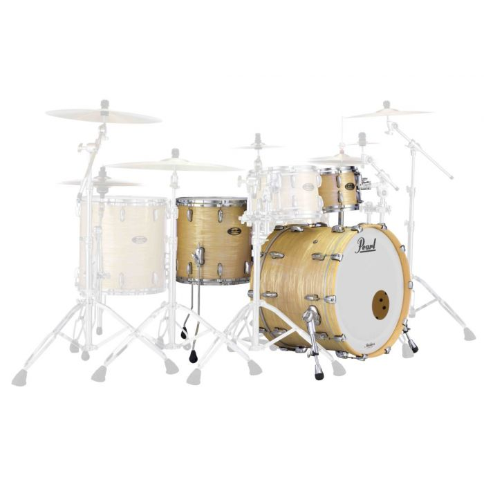 Pearl Masters Maple Gum 3-Piece Shell Pack in PLatinum Gold Oyster Side Angle View