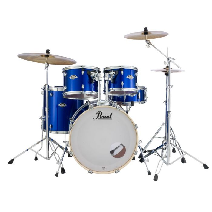 Pearl Export High Voltage Blue 5-Piece Shell Pack with Hardware and Cymbals