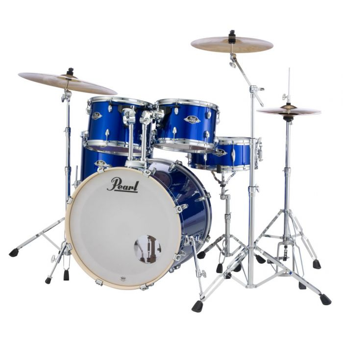 Pearl Export EXX 5-Piece Drums in High Voltage Blue with Stands and Cymbals