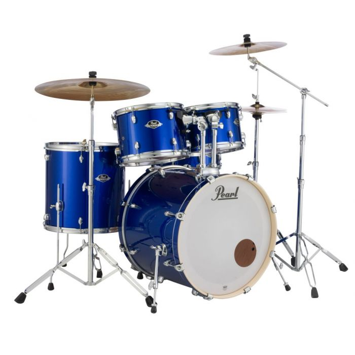 Pearl Export 5-Piece Kit with Hardware and Cymbals in High Voltage Blue