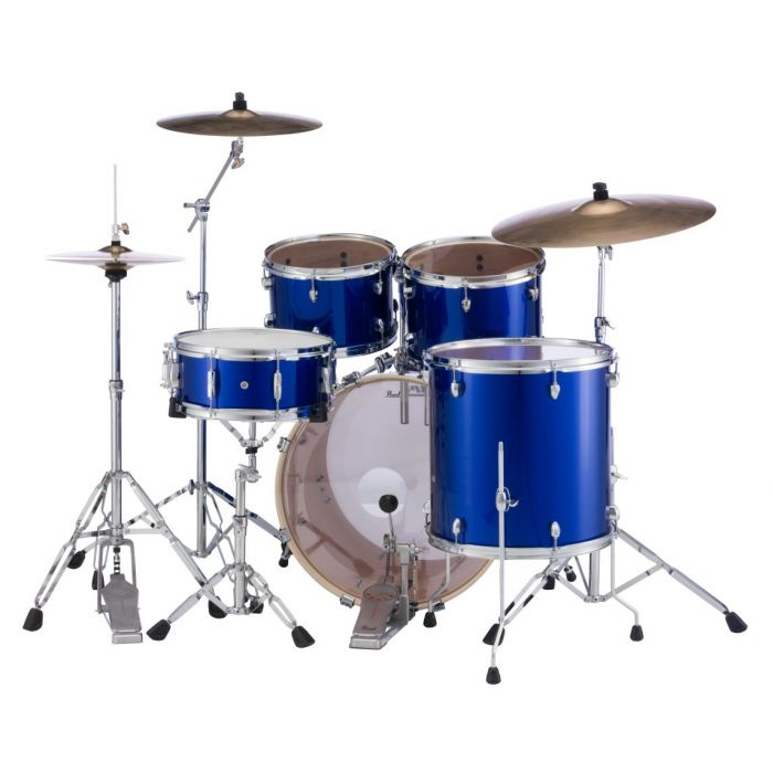 High Voltage Blue 5-Piece Pearl Export Drums with Hardware and Sabian Cymbals