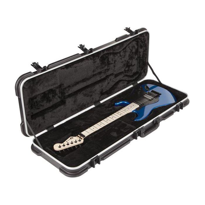 Charvel Standard Moulded Electric Guitar Case Black Open