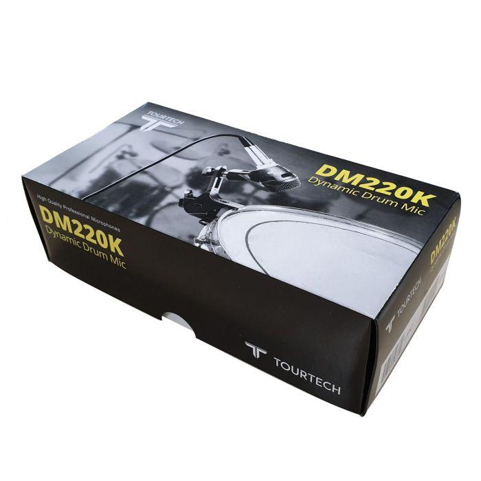TourTech DM220K Dynamic Drum Microphone Box At An Angle
