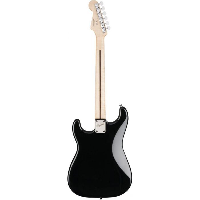 Full rear view of a Squier Bullet Stratocaster HT IL Black Electric Guitar