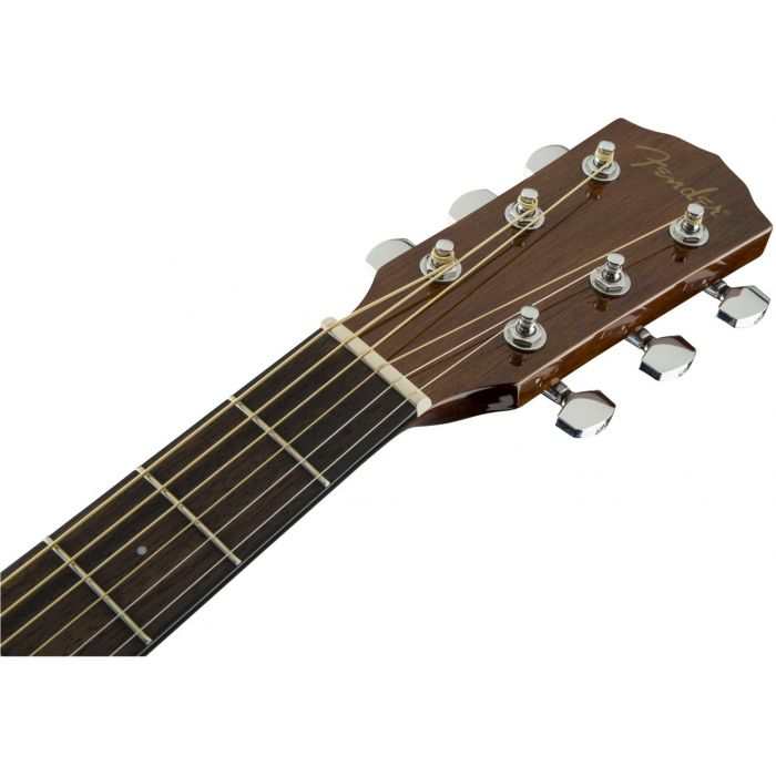 Headstock and Walnut Fretboard of Fender CD-60 Dread V3 DS Acoustic Guitar