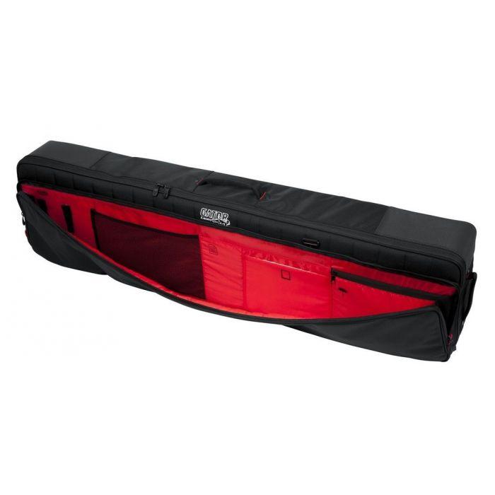 Front pocket view on a Gator G-PG-76SLIM Slim 71-Note Keyboard Gig Bag