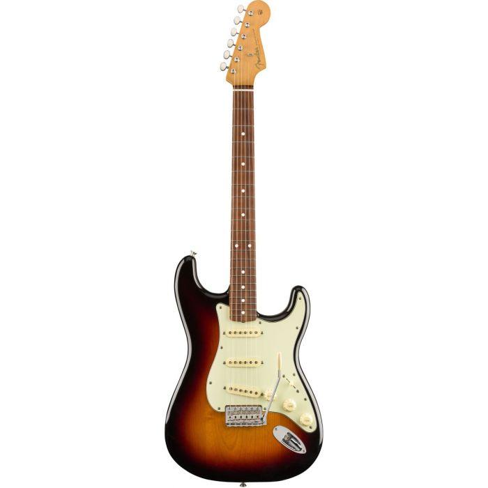 Full front view of a Fender Vintera 60S Stratocaster PF 3 Tone Sunburst