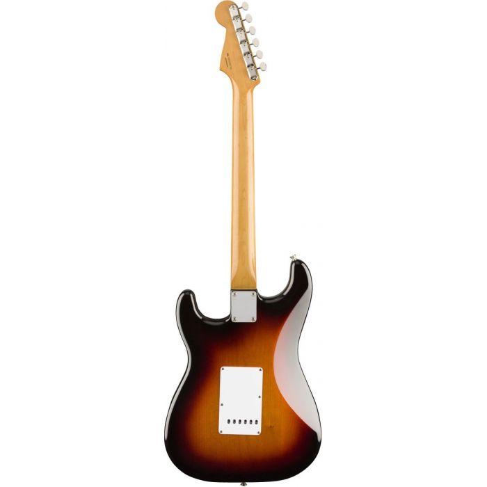 Full rear view of a Fender Vintera 60S Stratocaster PF 3 Tone Sunburst
