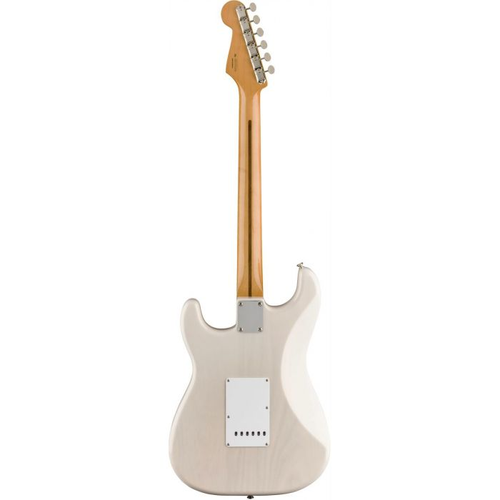Full rear view of a Fender Vintera 50S Stratocaster MN White Blonde
