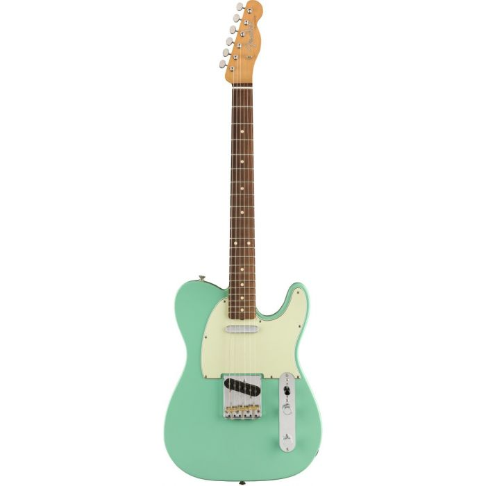 Full frontal view of a Fender Vintera 60s Telecaster Modified PF Sea Foam Green
