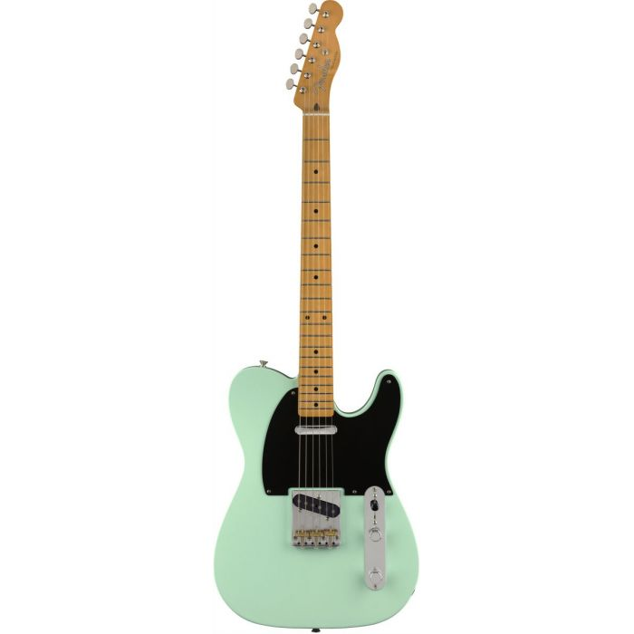 Full frontal view of a Fender Vintera 50s Telecaster Modified MN Surf Green