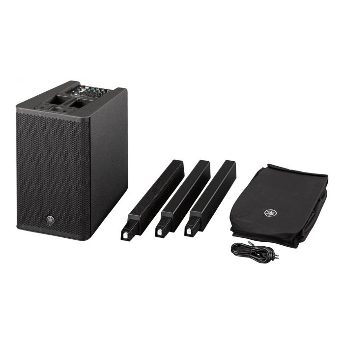 All Components of Yamaha StagePas 1K Portable PA System