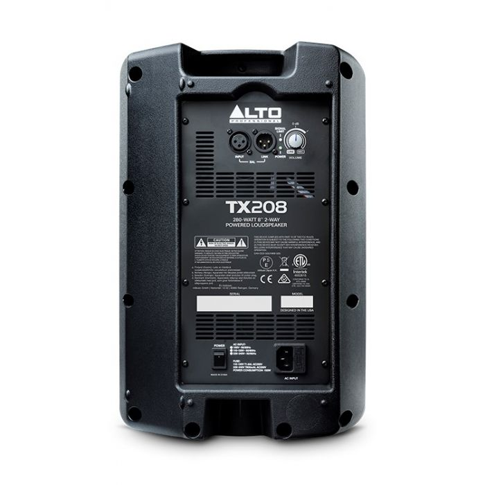 Rear View of Alto TX208 Active Speaker