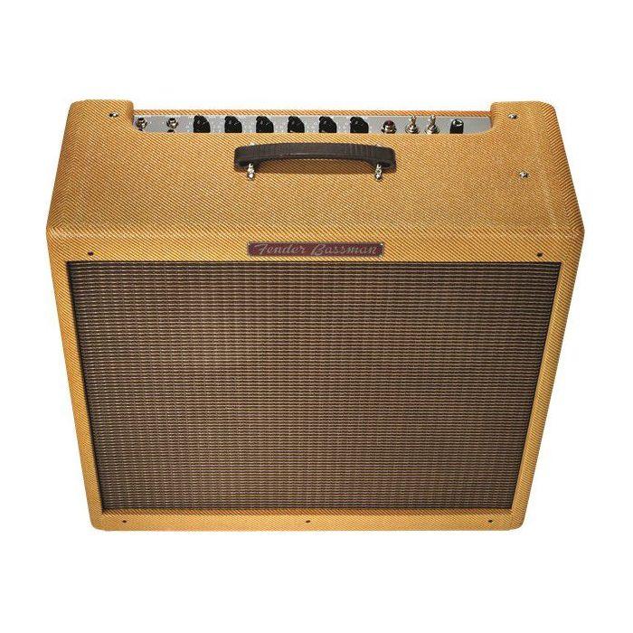 Front top-angled view of a Fender 59 Bassman Ltd Bass Guitar Amplifier Combo