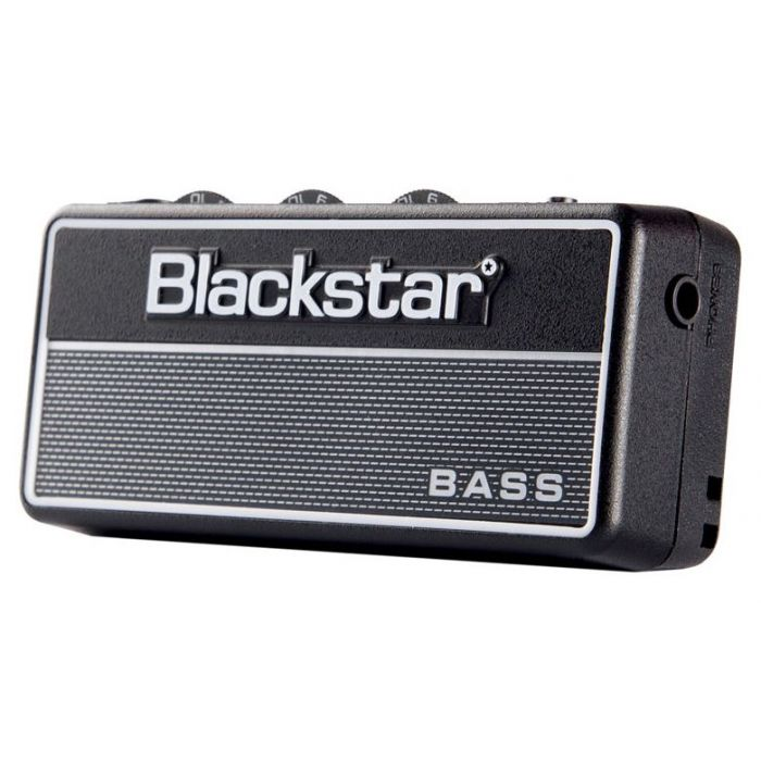 Front left-angled view of a Blackstar amPlug2 Fly Bass Amp