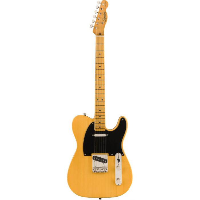 Full frontal view of a Squier Classic Vibe 50s Telecaster MN Butterscotch Blonde