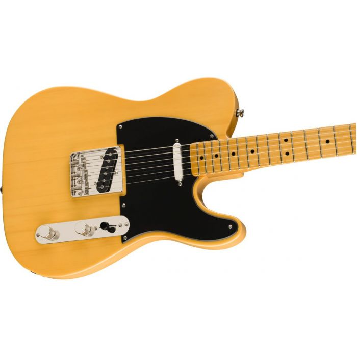 Front angled view of a Squier Classic Vibe 50s Telecaster MN Butterscotch Blonde