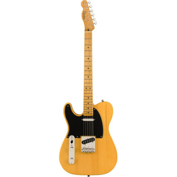 Full frontal view of a Squier Classic Vibe 50s Telecaster LH MN Butterscotch Blonde