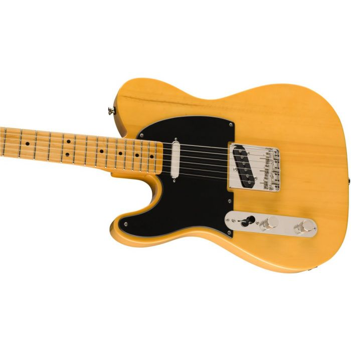 Front angled view of a Squier Classic Vibe 50s Telecaster LH MN Butterscotch Blonde