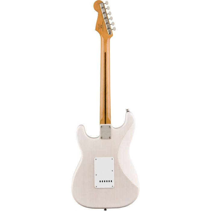 Full rear view of a Squier Classic Vibe 50s Stratocaster MN White Blonde