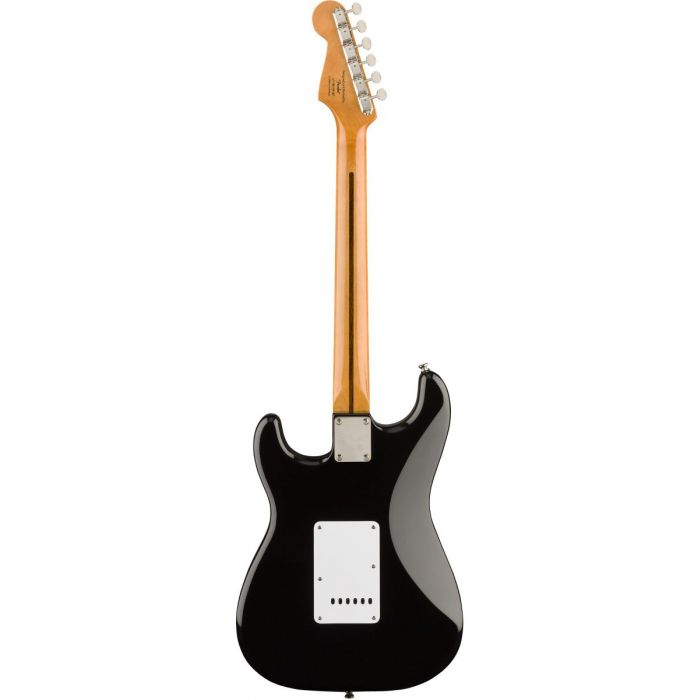 Full rear view of a Squier Classic Vibe 50s Stratocaster MN Black
