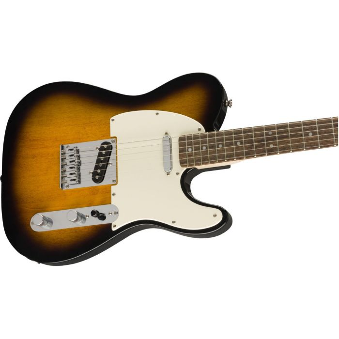 Front angled view of a Squier Bullet Telecaster IL Brown Sunburst Guitar