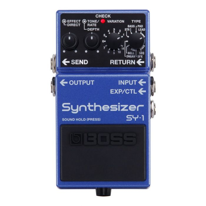 Full frontal view of a Boss SY-1 Synthesizer Effects Pedal