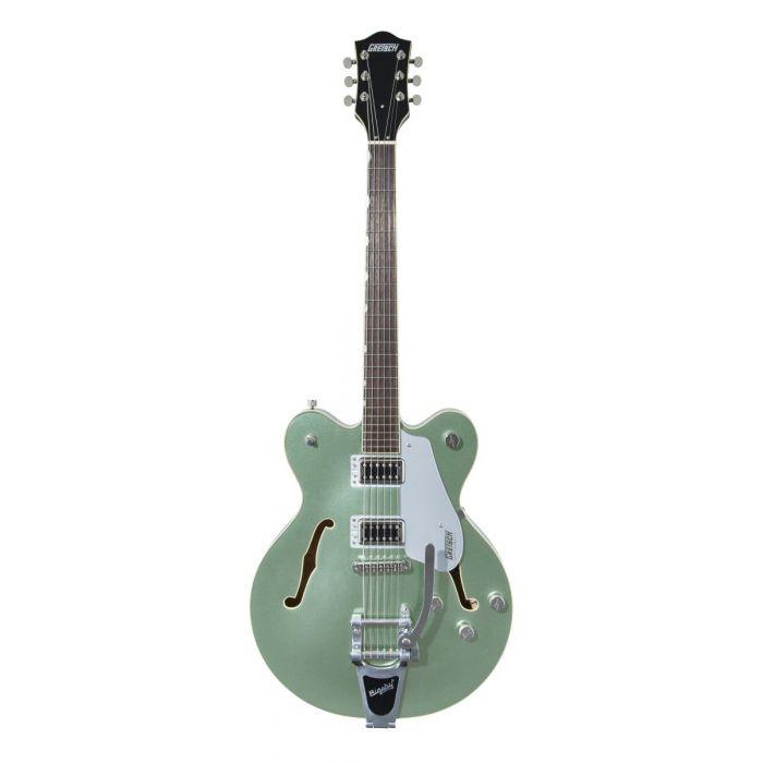 Full frontal view of a Gretsch G5622T Center-Block Aspen Green Guitar