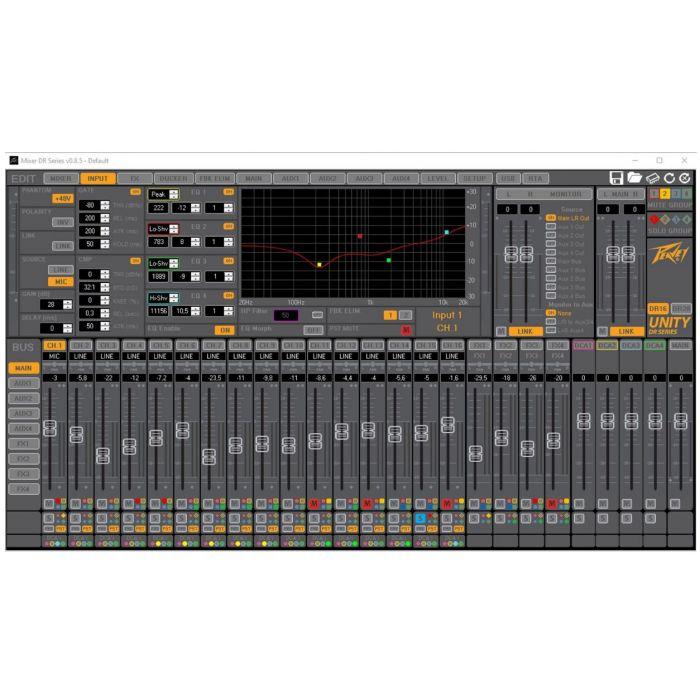 Peavey Unity Mixer Window