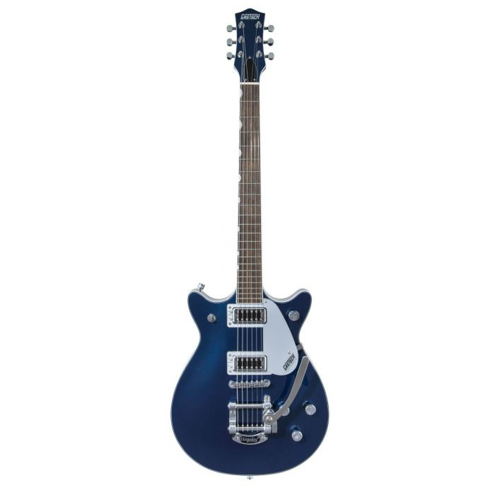 Full frontal view of a Gretsch G5232T Electromatic Double Jet FT Midnight Sapphir