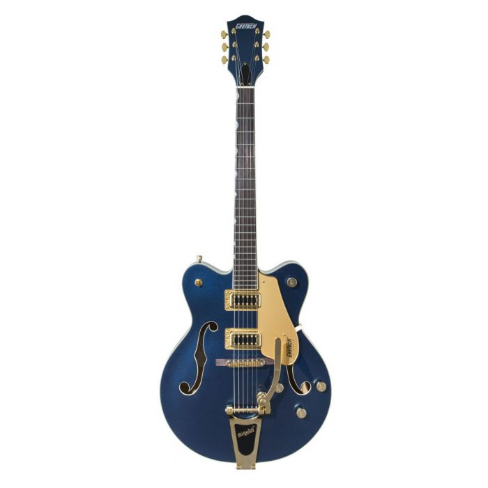 Full frontal view of a Gretsch Ltd Edition Electromatic G5422TG Midnight Sapphire