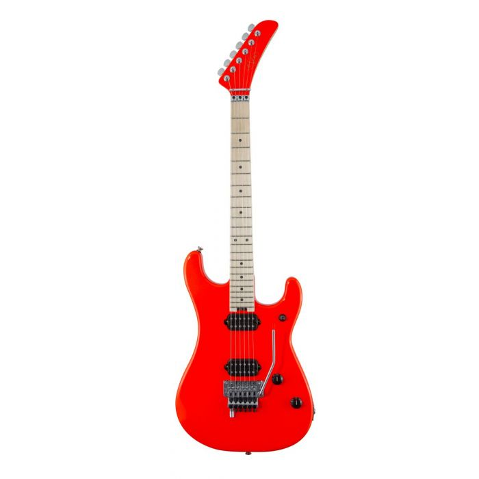 Full frontal view of a EVH 5150 Series MN Rocket Red Electric Guitar