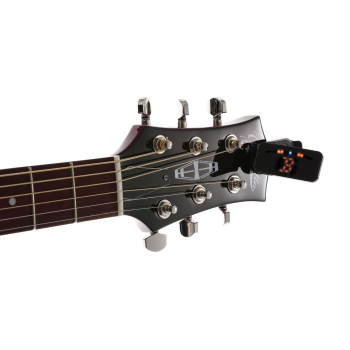 Korg Pitchclip 2+ Clip-On Tuner On Headstock