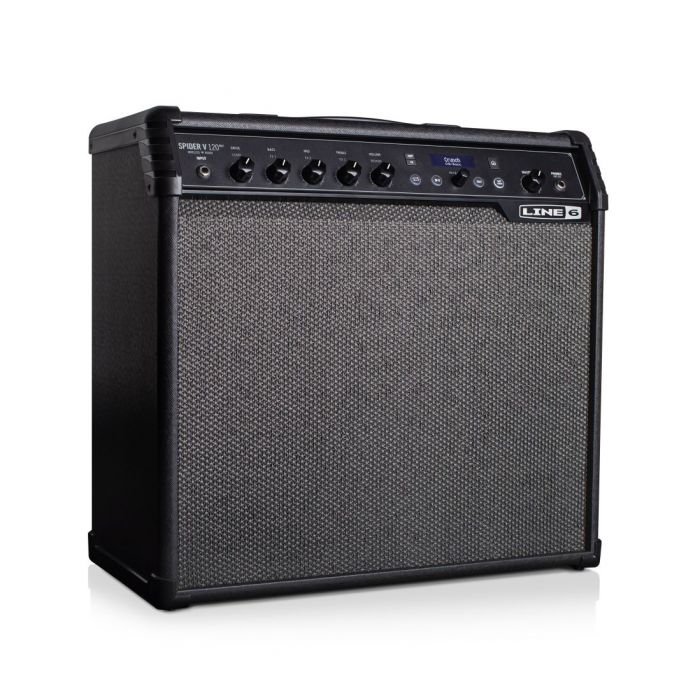 Front right angled view of a Line 6 Spider V120 MK2 Guitar Combo Amp
