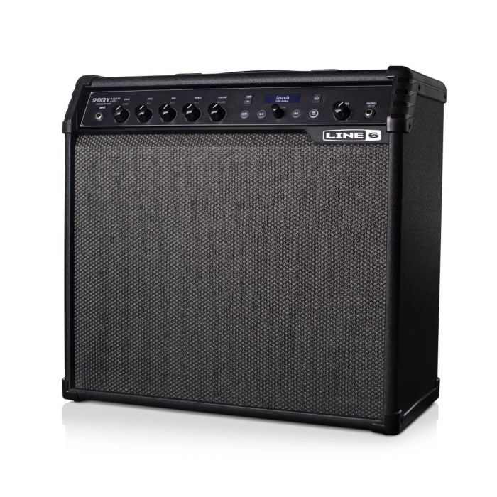 Front left angled view of a Line 6 Spider V120 MK2 Guitar Combo Amp