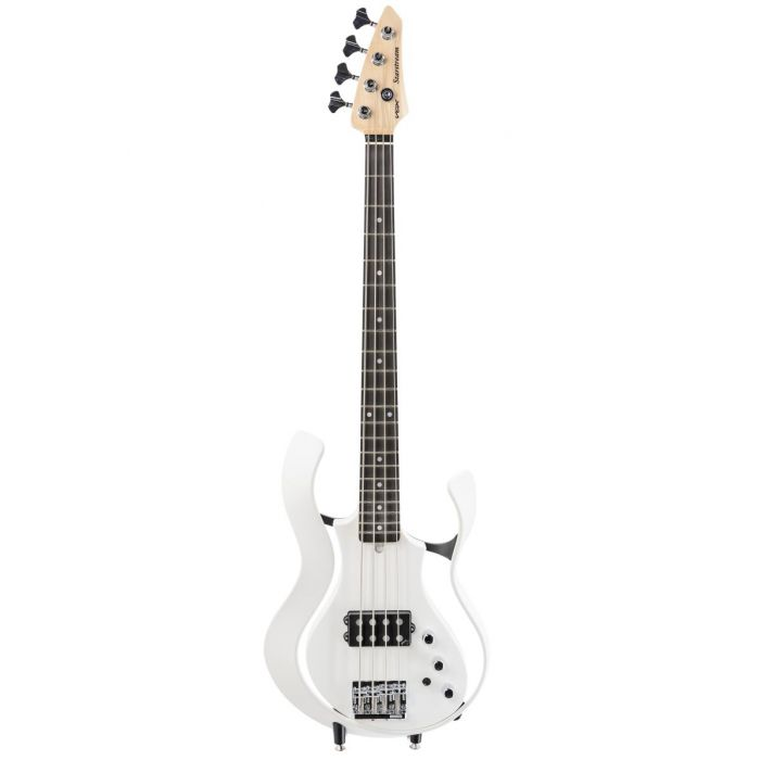 Full frontal view of a Vox Starstream Active Bass 1H Artist Pearl White