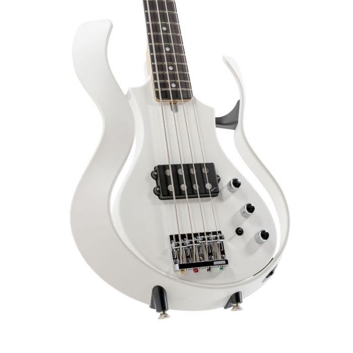 Front closeup view of a Vox Starstream Active Bass 1H Artist Pearl White