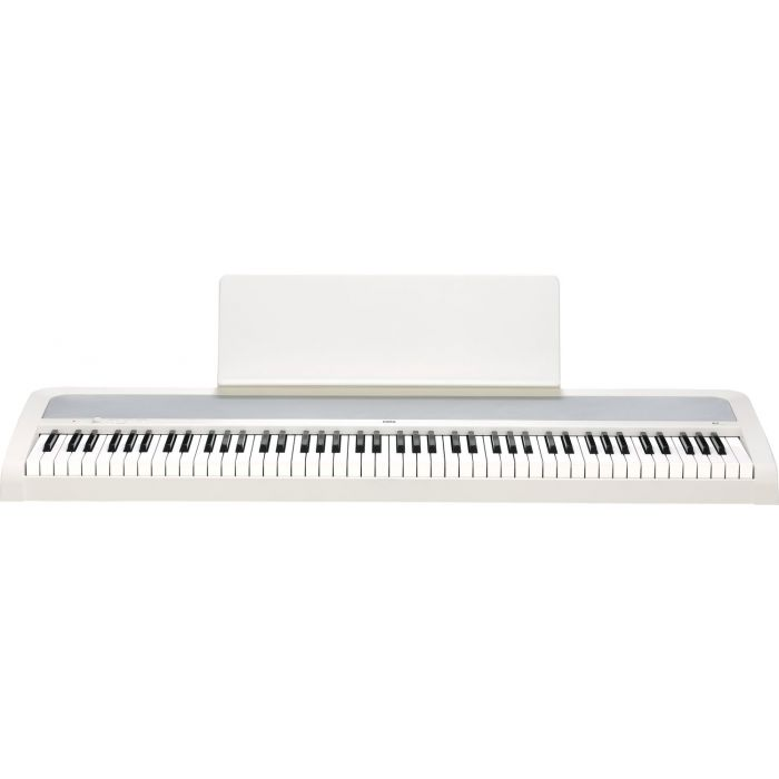 Frontal View of Korg B2 Digital Piano White with Music Rest