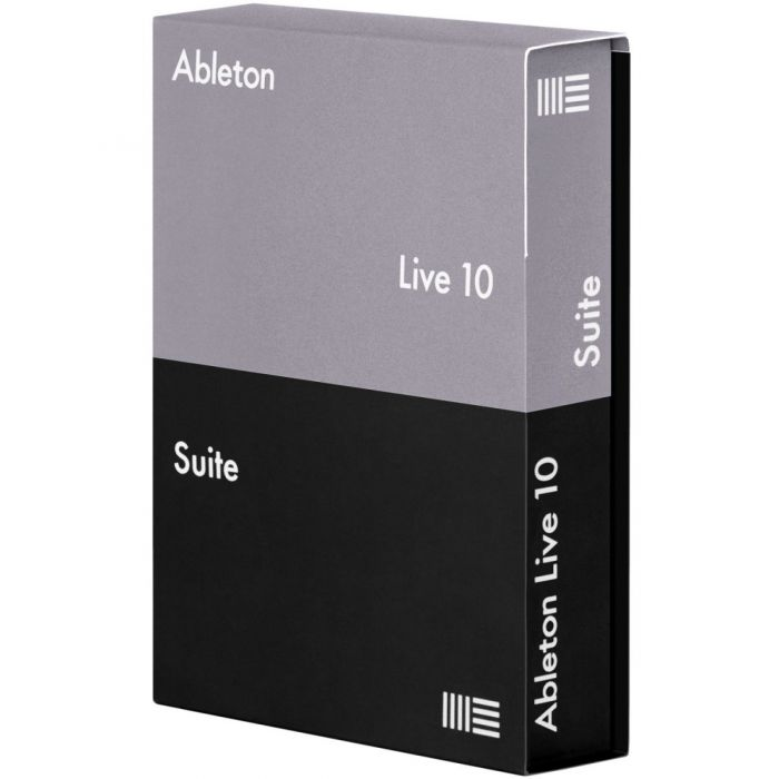 Boxed view of a Ableton Live 10 Suite UPG from Live 7-9 Suite Download