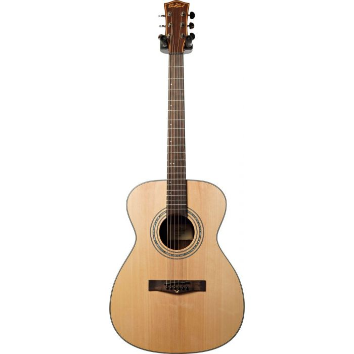 Full frontal view of a Eastcoast G1S Grand Auditorium Acoustic Guitar Satin Natural